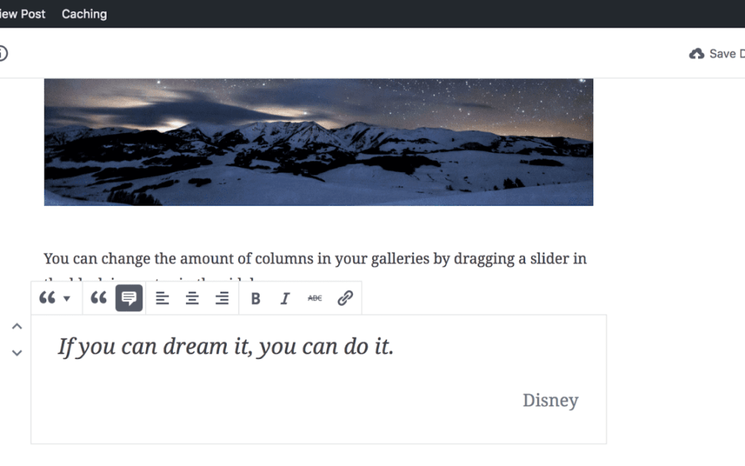 Adding pull quotes in Gutenberg