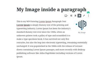 Gutenberg – Adding an Image to the paragraph block