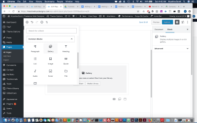 Adding a Gallery to Gutenberg- WordPress 5.0