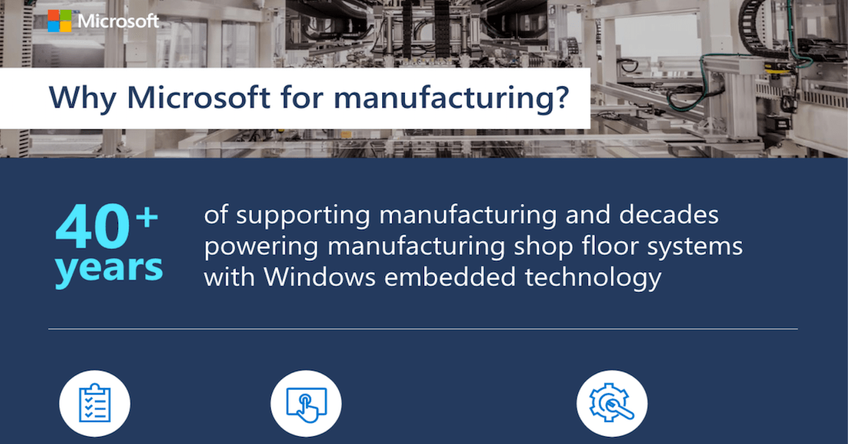 Microsoft proof points for manufacturing