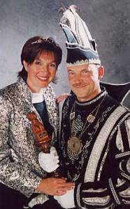 carnaval2001 Prins Peter Janssen en Prinses Anita