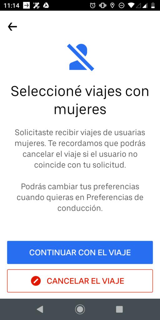uber para mujeres