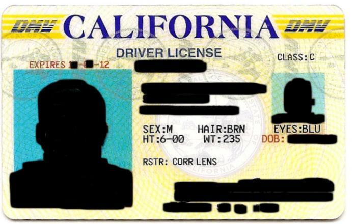 ticket por no licencia en California