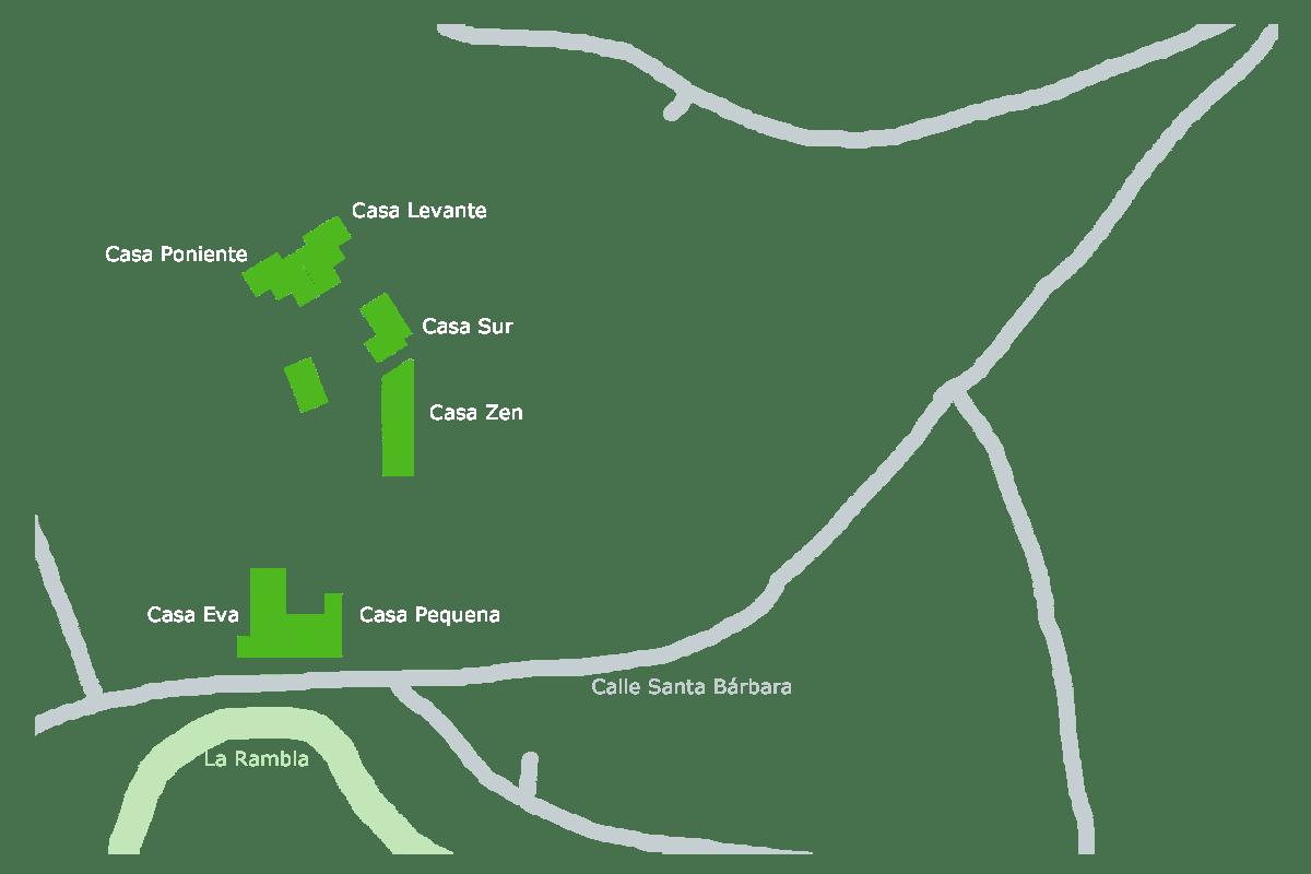 CasasEva Lage im Dorf Rodalquilar
