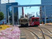 富山駅、路面電車!