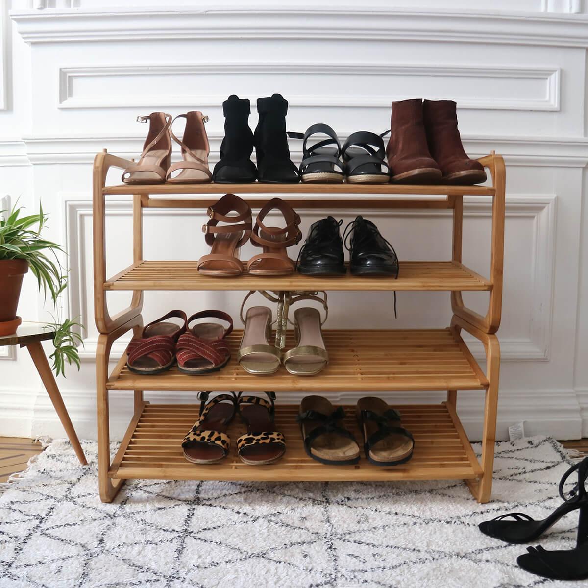 rangement chaussures etageres