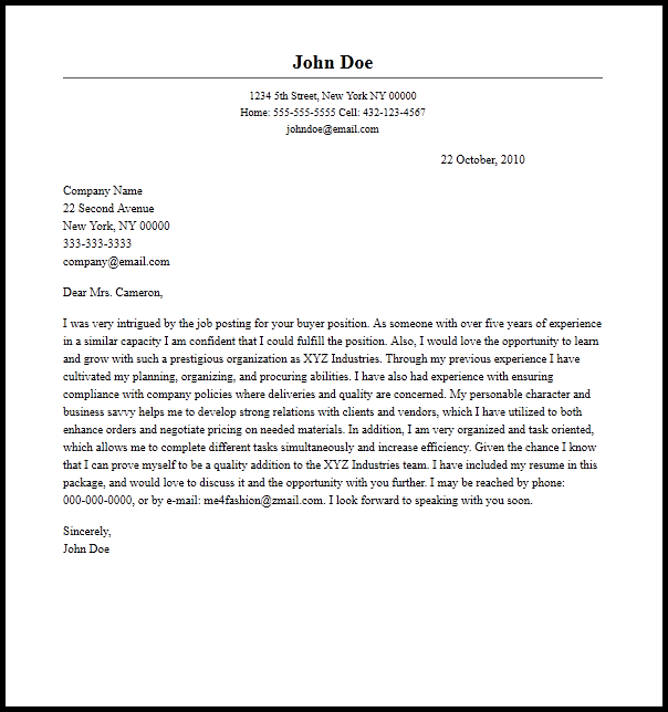 Financial Yst Cover Letter