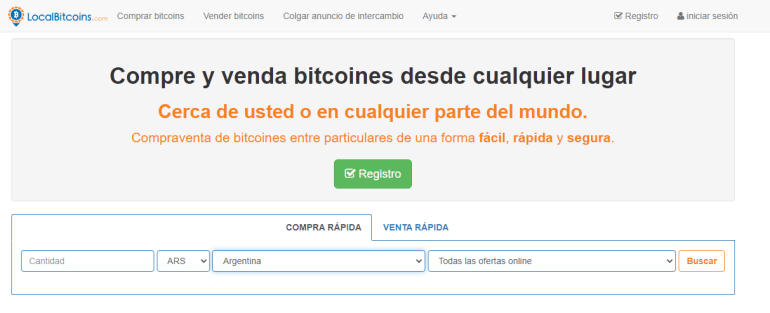 vender bitcoin en localbitcoin
