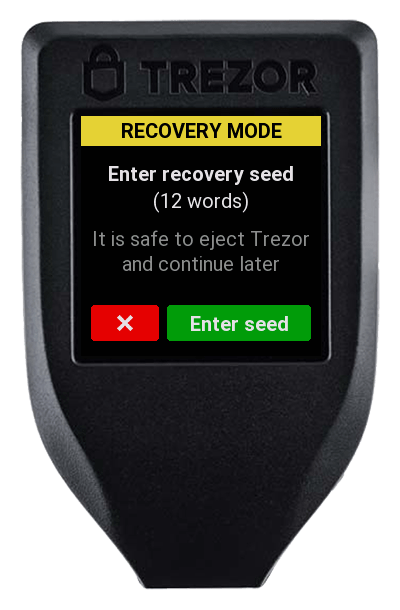 recovery seed trezor