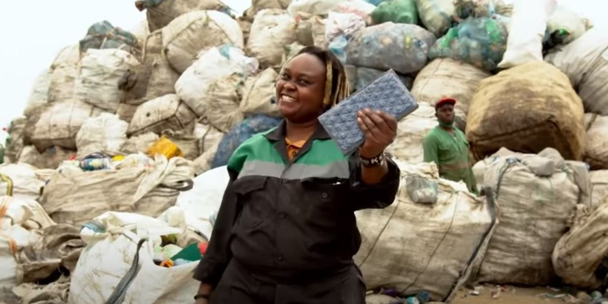 Young Kenyan woman leading effort to turn trash into cash