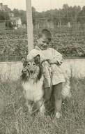 Dierenvriend van jongsaf Met 'Lassie', de hond van mijn peter (1962-63)