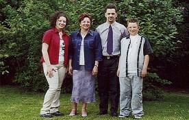 De familie Engrie-Andries in 2001.