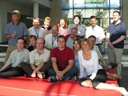Met een aantal collega's op Sanoma Magazines Belgium (2006)