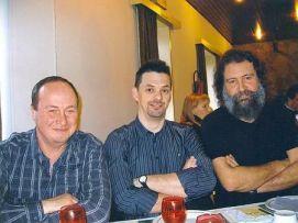 3 Ex-miliciens (lichting 1981)(Geert Leirens, ik, Gorik Van Londersele) (2008)