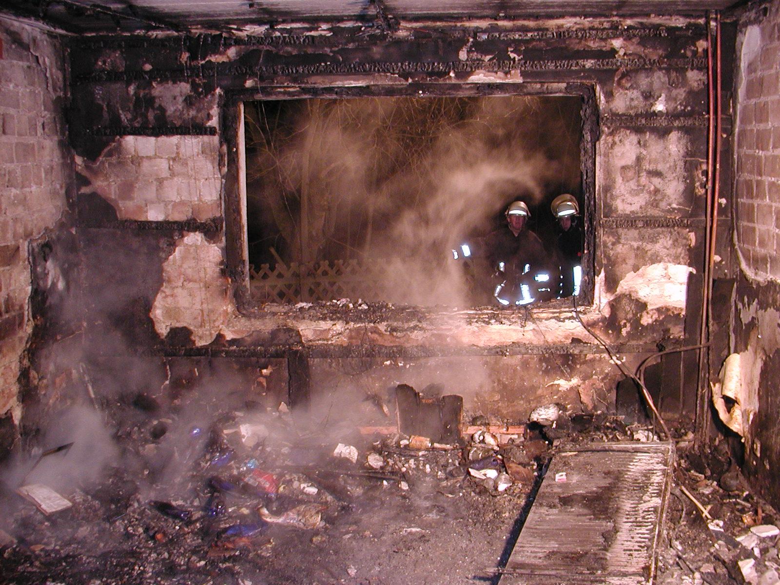 Verhalten nach einem Brand