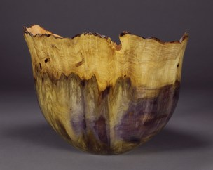 "Jones Tulip Poplar Burl 9 1/2"" dia. x 7"" tall"