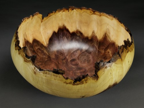 "Jones Tulip Poplar Burl. 16"" dia. x 7"" tall"