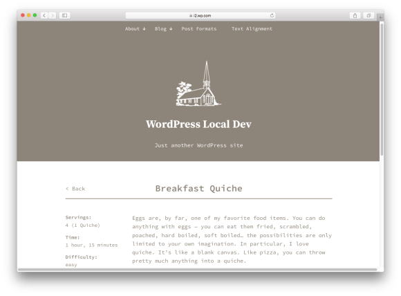 WordPress themes built with React - anadama-react-wordpress-theme