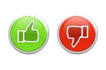 like / dislike buttons