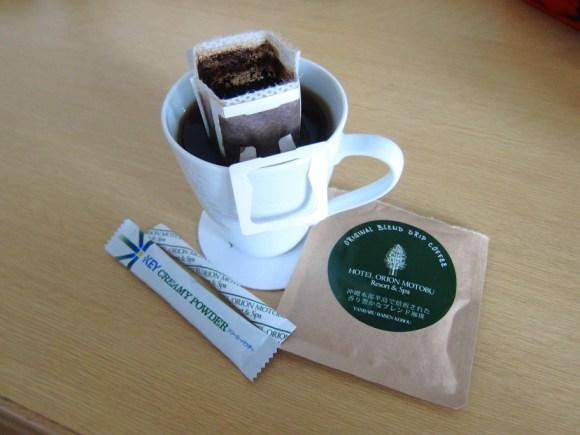 県産焙煎のコーヒー