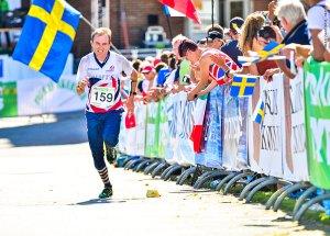 GG vauhdissa Ruotsin MM-kisojen keskimatkalla. Kuva: worldofo.com