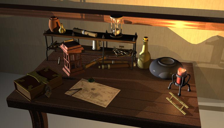 1 desk 3D - this