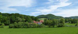 Blick auf den Hof von Schwarzbacher Richtung