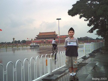 Here's Andrew with the main entrance to the Forbidden City behind him.