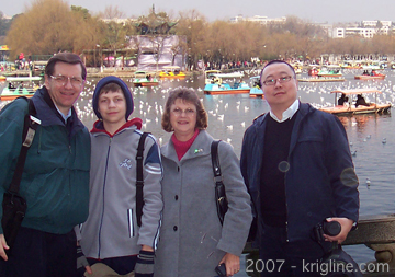 The lake is a great place to bring friends, like Michael's friend Jimmy, visiting from Beijingin 2007; they've been friends since their days at Xiamen University (mid 1980s).