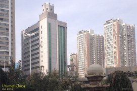 But for the most part, Urumqi looked like any other large Chinese city, with new, tall buildings pushing back the sky, accompanied by signs of growth and construction.