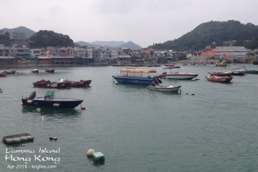 The village & harbour by the Yung Shue Wan ferry pier