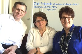"""As the saying goes: """"Make new friends, but keep the old. One is silver, the other is gold."""" In Delaware Vivian and I had a great time visiting two friends from my Eastern University days."""