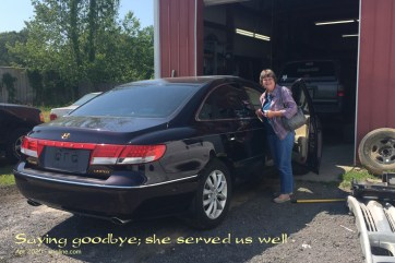 """The mechanic said it was too dangerous to drive (which another mechanic also said to us). So we said our goodbyes to """"Barney"""" (I named it after the purple dinosaur), and looked for a new car."""