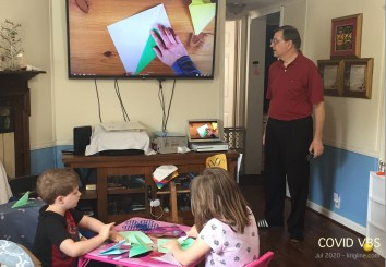 Another favorite activity was a video-led origami challenge.