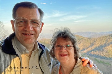 Enjoying the hills of North Carolina, above Ridgecrest Retreat Center. On the way down the hill, we encountered a black bear! (Fortunately, we were in our car)