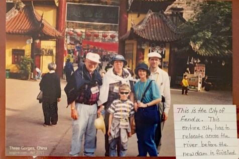 In 2001, Michael's parents visited, and we enjoyed a cruise down the Yangtze River, just before a huge dam changed the landscape forever.