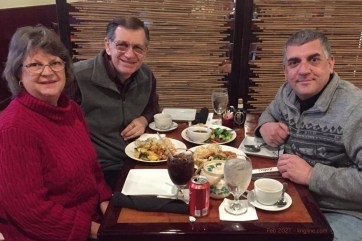 In between Valentine's Day and Chinese New Year, we enjoyed a delicious Chinese meal with an old friend--one of those who actually visited us in China!