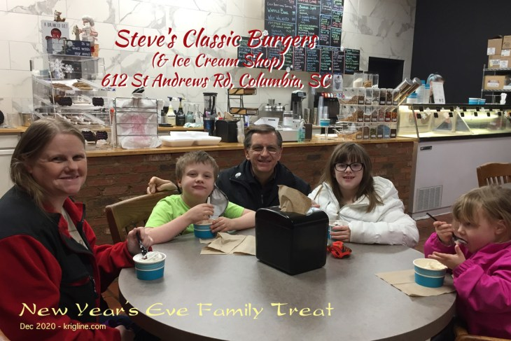 We ended 2020 on a sweet note at a local ice cream parlor! It was a great ending for a rather terrible year!