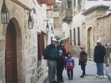 "With family in the ""old city"" part of Antalya."
