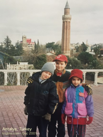 Here's one more photo of the kids, in Antalya.