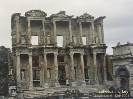 The rebuilt edifice of Ephesus' famous library, reputed to be among the best of the world at the time.