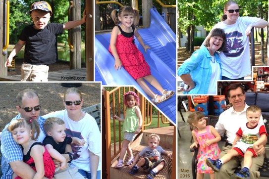 We really enjoyed being with our daughter and her family in both Ohio and SC during May; but how does one limit the record to just one or two photos?! I've put together six favorite shots; I'm sure Vivian's scrapbook has more (see links page).