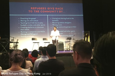 Yesterday was World Refugee Day, and I was very impressed by the way The Vine church celebrated, while giving great information to visitors.
