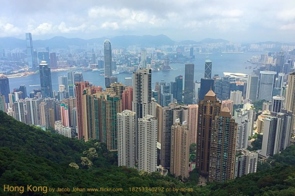 Jacob Johan was kind enough to post this photo of HK from the Peak on flickr. https://www.flickr.com/photos/vdm/18253340292