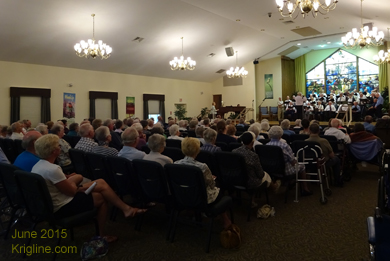 June 14. Sunday night we--and a packed house--enjoyed a concert of the Village's Singing Men. Wonderful evening.