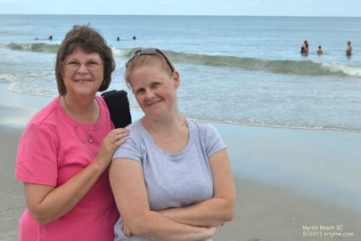 Mother and daughter at the beach (the evening before we took the other photos)