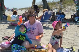 Go to the beach and what do the grandchildren want to do? Blow bubbles, just like they can in their back yard!