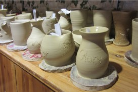 """I wrote the word """"Glory"""" (after failing to write the complicated Chinese character) because my song says that the potter's glory abides forever in the finished work."""