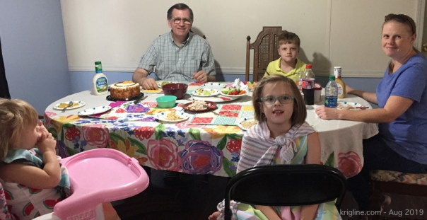 Vivian is now with our grandchildren almost every day, so that our daughter can work. Michael makes the trek to Gaston as needed, and especially enjoys taking the kids to church on Wednesday evenings.