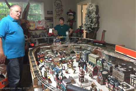 By brother is a retired Coca-cola executive, with several interesting collections of Coke memorabilia, including this train set (such villages are popular Christmas decorations in the US).